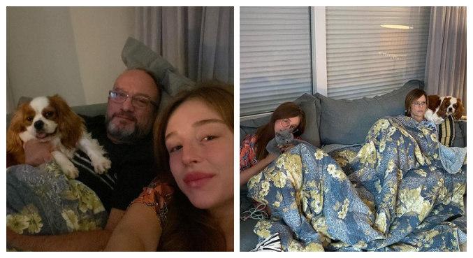 Duda está passando o fim de semana na casa dos pais