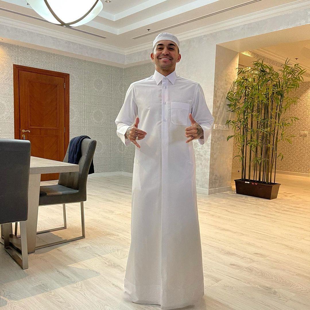 Dudu está cada vez mais integrado à cultura do Qatar. Muitas dúvidas sobre voltar em 2021