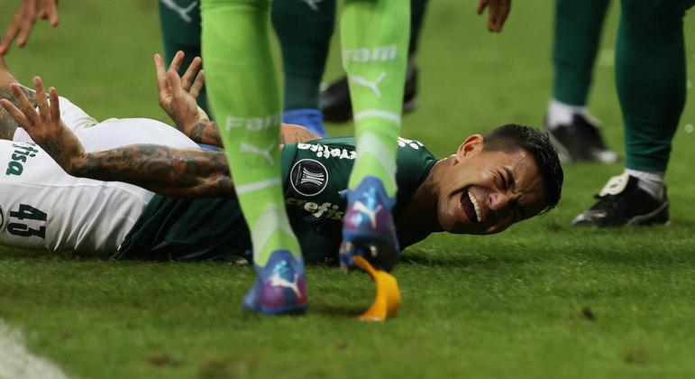 """Dudu comemora o gol da classificação. """"Palmeiras na final da Libertadores é um sonho"""""""