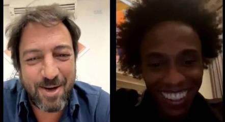 Willian foi anunciado em live com Duilio