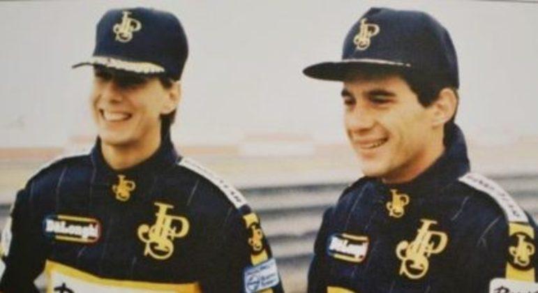 Johnny Dumfries e Ayrton Senna nos tempos de Lotus