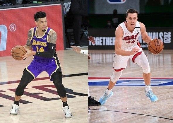 Duncan Robinson (Heat) x Danny Green (Lakers) -  (Ala)  Duelo de especialistas em arremessos de três pontos. Nesse caso, o jovem jogador do Heat vem levando a melhor sobre o rival, acertando 44% dos tiros de longa distância contra 36% do ala do Lakers, que já teve momentos bem melhores nesse quesito. Por outro lado, o que pode pesar a favor de Danny Green é a sua experiência (duas vezes campeão da NBA) e, principalmente, a sua capacidade defensiva.