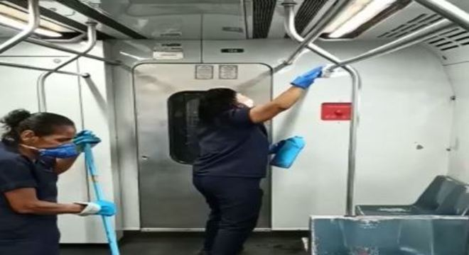 Durante intervalo de viagens, equipe da CBTU fará a higienização dos trens nas estações