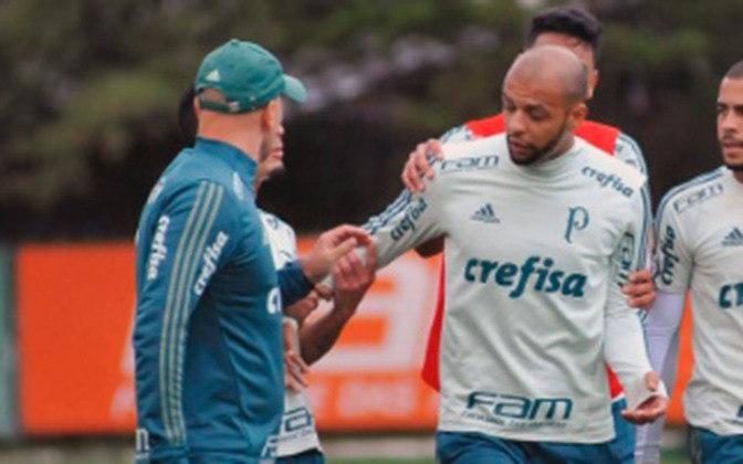 Durante um treino do Palmeiras, Felipe Melo bateu boca com Omar Feitosa, preparador físico da equipe. Cuca tentou amenizar a situação, mas não obteve sucesso. O treino do dia foi cancelado