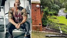 'The Rock' arranca portão de casa no braço: 'Tinha que ir trabalhar'
