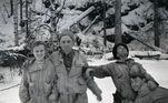 Segundo a dupla, o terreno tinha inclinação de 30 graus, o que é considerado o requisito mínimo para avalanches