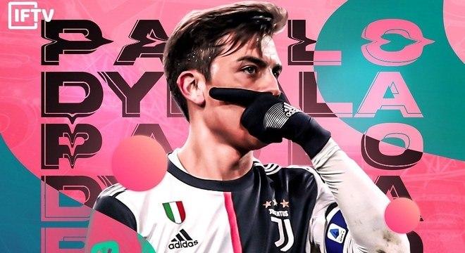 Paulo Dybala, na capa do twitter da Juventus