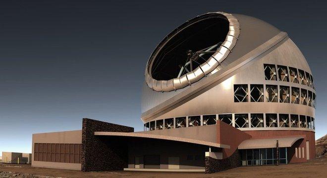 É assim que o Telescópio Trinta Metros (TMT, na sigla em inglês) ficaria se fosse construído