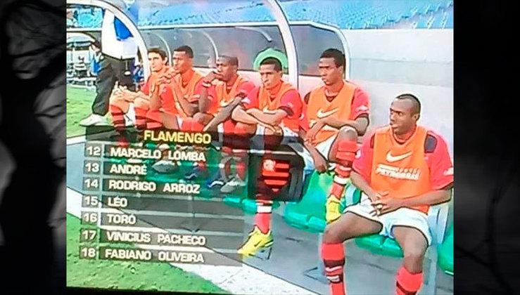 E esse clássico banco de reservas do Flamengo de 2006?