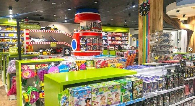 É fácil encontrar os principais brinquedos nas lojas de Cape Town.