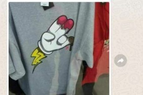 2a3fa0f4e4 A Riachuelo está vendendo camisetas com desenhos de gestos obscenos ...