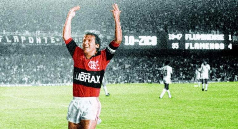 Zico fez três gols em um Fla-Flu disputado em 1986