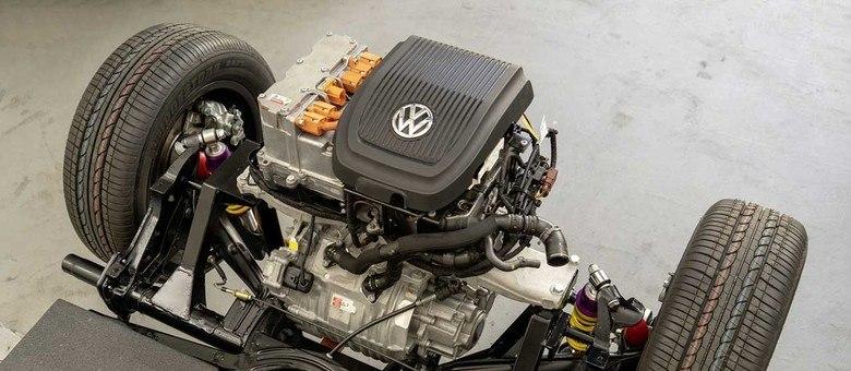 Kit de motor com a base e tração usados no e-Kafer e no e-Bulli