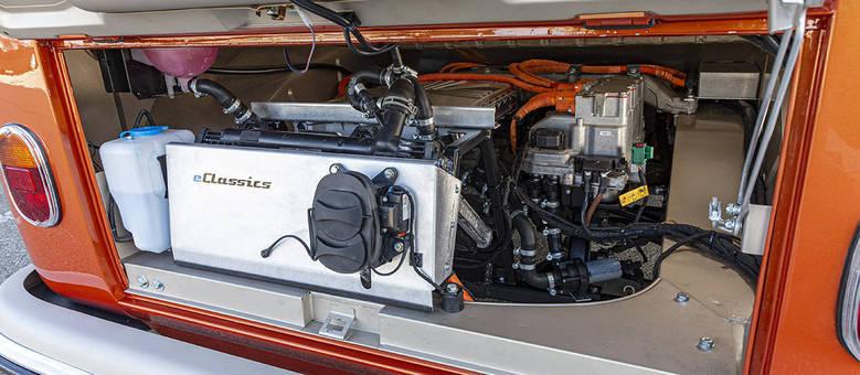 Motor elétrico na Kombi e-Bulli: um carro novo com visual vintage