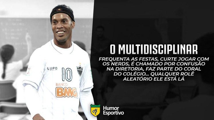 E se o Ronaldinho Gaúcho fosse aluno no colégio dos boleiros?