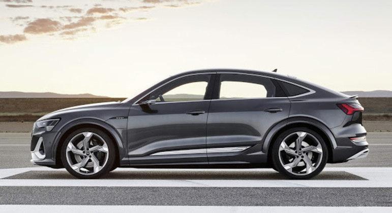 Uma das principais soluções aerodinâmicas do Audi e-tron permanece na versão S