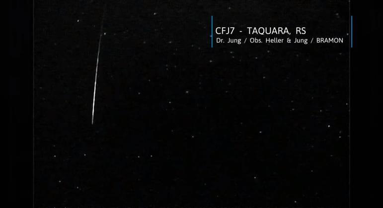 Imagem capturada por estação de monitoramento em Taquara, Rio Grande do Sul