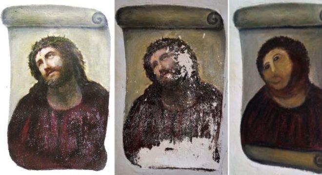 """As três etapas do """"Ecce Homo"""" de Borja, que se tornou uma celebridade"""
