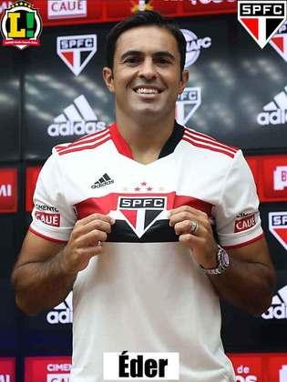 Eder - 6,0 - O atacante entrou já no segundo tempo da partida e teve atuação regular ao lado de Vitor Bueno no ataque.