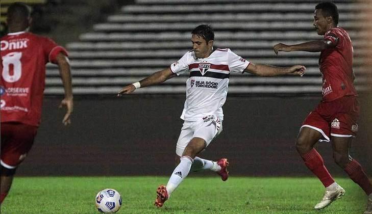 Eder - contratado nesta temporada, o atacante de 34 anos tem vínculo com o São Paulo até dezembro de 2022.