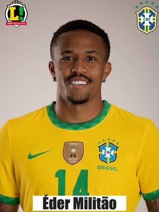 Eder Militão - 6,0 - Também demonstrou segurança e fez uma boa dupla com Thiago Silva. Bem nas interceptações, o jogador teve uma atuação segura nas poucas vezes em que o Peru chegou.