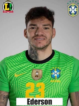 Ederson - 6,0 - Goleiro brasileiro não foi exigido ao longo da partida. Na única chegada de perigo da Argentina (a do gol), não teve culpa.