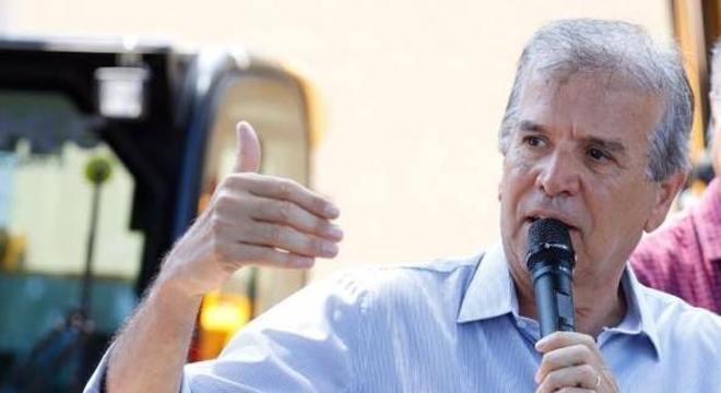 O prefeito de Rio Preto e candidato à reeleição, Edinho Araújo (MDB)