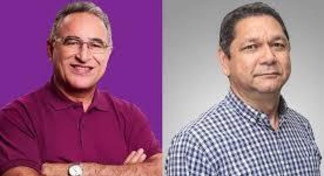 Edmilson Rodrigues, do PSOL, e o delegado Eguchi, do Patriota