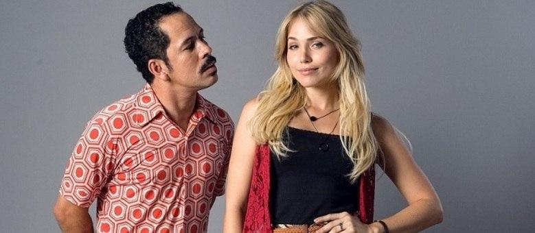 """Edmilson Filho e Letícia Colin do elenco de """"Cine Holliúdy"""""""