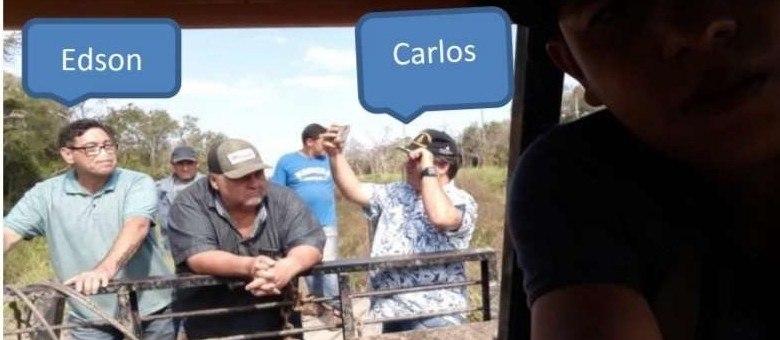 Carlos Bernardo aparece em foto com pistoleiro acusado de matar policial civil (Reprodução)