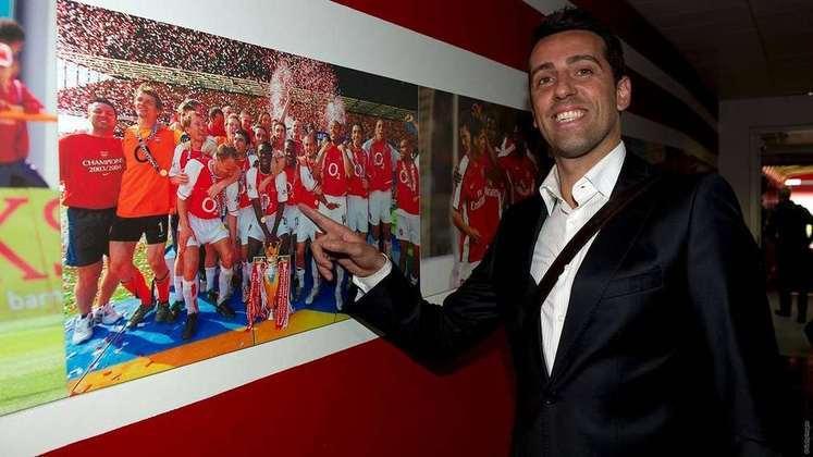 Edu (volante) - 127 jogos e 15 gols entre 2000 e 2005 - Campeão da Premier League 2001–02 e 2003-04; Copa da Inglaterra 2001–02, 2002–03 e 2004–05 e Supercopa da Inglaterra 2002 e 2004 - Hoje com 43 anos, é diretor técnico do Arsenal.