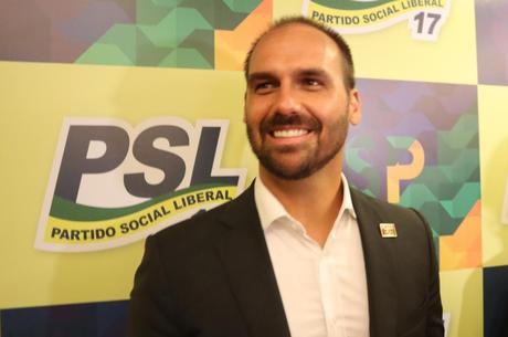 Eduardo Bolsonaro negou que há rachas no partido
