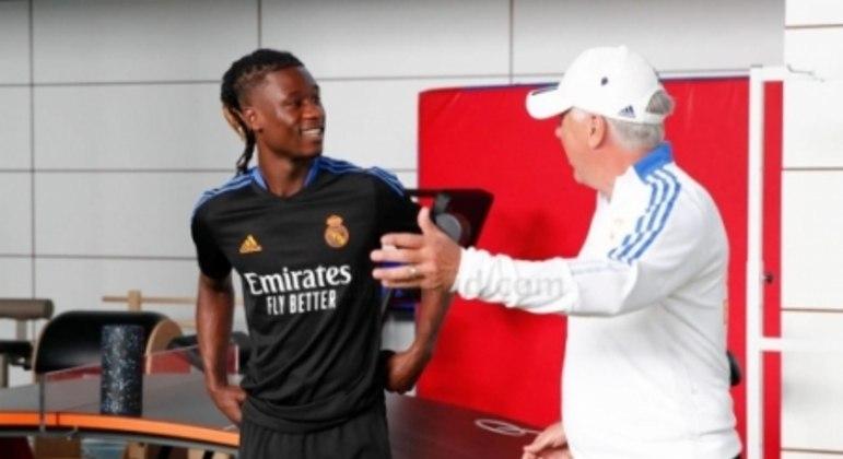 Eduardo Camavinga e Carlo Ancelotti - Real Madrid