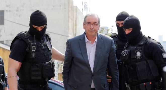 O ex-presidente da Câmara Eduardo Cunha, condenado a 14 anos de prisão