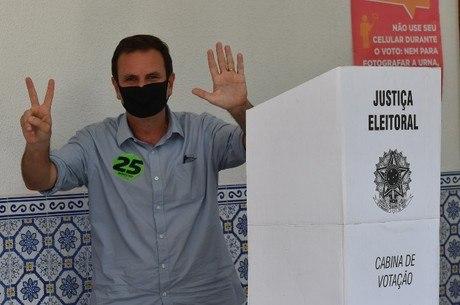 Eduardo Paes votou em São Conrado