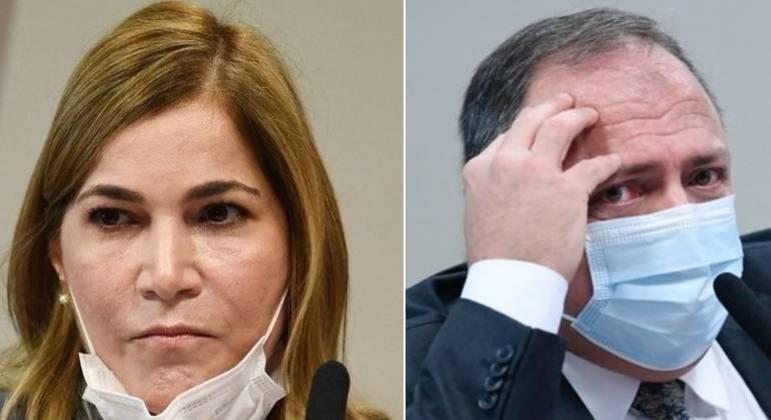 Mayra Pinheiro e Eduardo Pazuello estão no centro da investigação da CPI da Covid