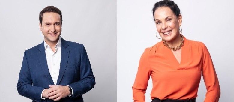 Eduardo Ribeiro e Carolina Ferraz estão à frente do Domingo Espetacular