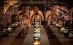"""-FOTODELDIA- GRAFCAT4204 BARCELONA 3/6/2021.- A través de más de 140 piezas de Josep Llorens Artigas (1892-1980) y Hamada Shöji (1894-1978), el MNAC muestra en la exposición """"Los colores del fuego:Hamada-Artigas"""", el diálogo entre la obra de estos dos grandes ceramistas y la historia de amistad y admiración que se forjó entre ellos, mientras explora el impacto que tuvo en Cataluña a mediados del siglo XX en otros artistas. EFE/Enric Fontcuberta"""