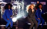 Beyoncé (C) em uma apresentação em Cleveland, Ohio, EUA em 2017. EFE / EPA / DAVID MAXWELL