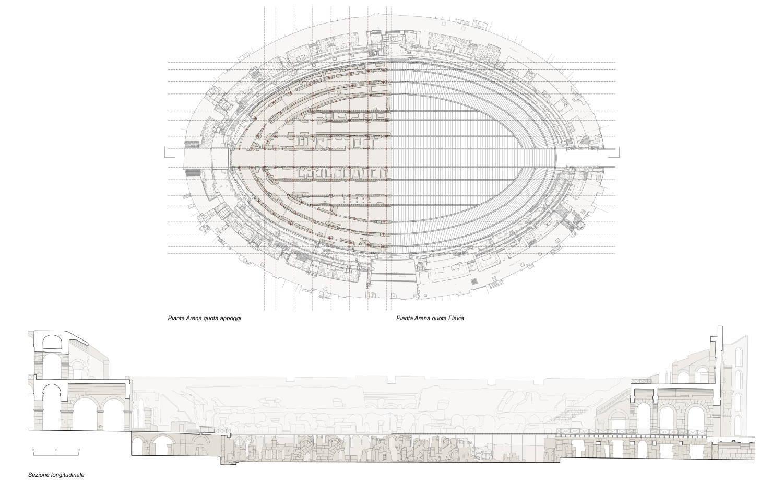 Esquema da futura plataforma para a arena do Coliseu