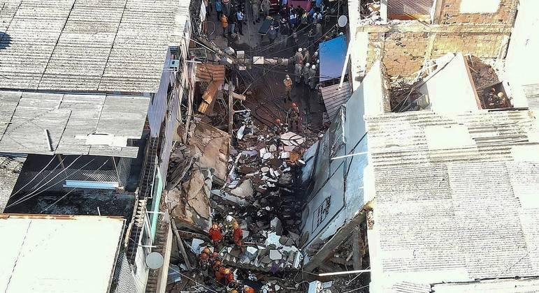 Duas pessoas morreram no desabamento em Rio das Pedras