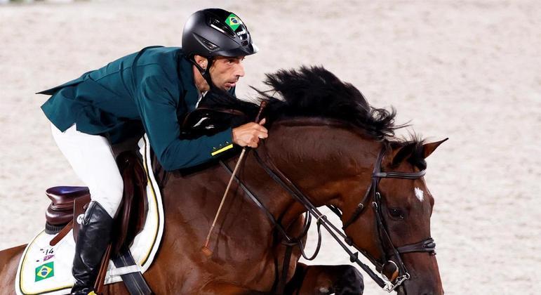 Yuri Mansur disputa prova de saltos na Olimpíada de Tóquio