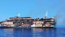 Incêndio atinge embarcação com quase 300 a bordo na Indonésia