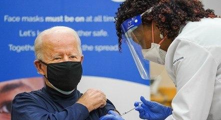 Joe Biden foi vacinado na última terça-feira (22)