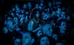 Oeiras (Portugal).- Festival-goers attend the concert of Scottish band Mogwa at the 2019 Alive Festival in Oeiras, Lisbon, Portugal, 11 July 2019 (re-issued 18 May 2020). As prominent in both sky and sea, the color blue is often associated with open spaces, freedom, depth and wisdom. In psychology blue is viewed as a non-threatening color and it is believed to have positive and calming effects on body and mind. Often linked with intellect, confidence and reliability, it is known in corporate America as a power color. (Lisboa) EFE/EPA/MARIO CRUZ ATTENTION: This Image is part of a PHOTO SET *** Local Caption *** 55331752