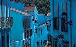 epa08429195 View of blue-painted houses in the village of Juzcar, in Malaga, southern Spain, 14 August 2017 (re-issued 18 May 2020). As prominent in both sky and sea, the color blue is often associated with open spaces, freedom, depth and wisdom. In psychology blue is viewed as a non-threatening color and it is believed to have positive and calming effects on body and mind. Often linked with intellect, confidence and reliability, it is known in corporate America as a power color. EPA/JORGE ZAPATA ATTENTION: This Image is part of a PHOTO SET *** Local Caption *** 53706420