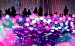 Tokyo (Japan), 01/12/2019.- Visitors view a pink colored Christmas illumination show at an amusement park in Tokyo, Japan, 01 December 2019 (reissued 19 May 2020). Pink became fashionable as a luxurious color worn by both sexes in the mid 1700s. By the time men moved to darker hues, women adopted pink and it became the girls' color. In the 1960s high fashion and celebrities embraced pink. A significant change took place when the color became a symbol for women'Äôs and LGBTQ rights in the 1970s and, from 1990 on, also the symbolic color for the struggle against breast cancer. Subsequently, pink is now recognized as a color of protest, femininity, joy, energy and affirmation. (Moda, Protestas, Japón, Tokio) EFE/EPA/KIMIMASA MAYAMA ATTENTION: This Image is part of a PHOTO SET