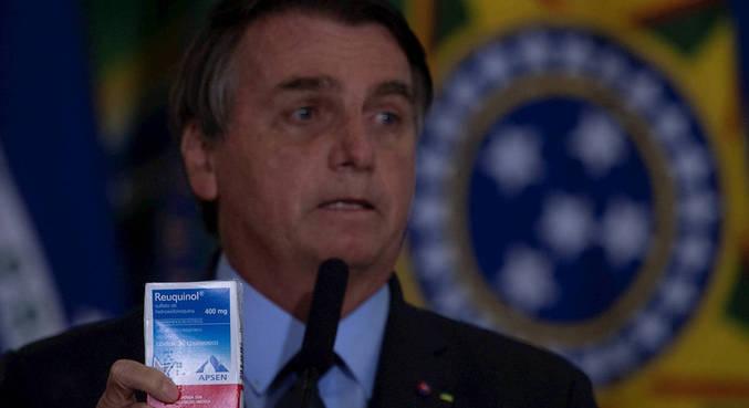 Bolsonaro é defensor do uso da cloroquina para o tratamento da covid-19