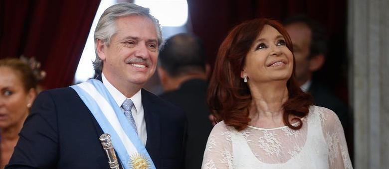 O presidente da Argentina, Alberto Fernández, e sua vice, Cristina Kirchner