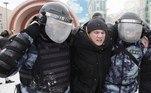 O forte esquema de segurança e o fechamento das estações de metrô mais próximas impediu que manifestantes chegassem a Lubianka, motivo pelo qual a equipe de Navalny anunciou uma mudança no percurso para as estações de Sukharevskaya e Krasnye Vorota